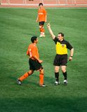 Yellow card Royalty Free Stock Photography