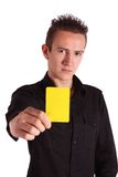 Yellow card Royalty Free Stock Photos