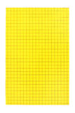 Yellow card. With grid, isolated Stock Image