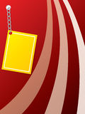 Yellow card chained to a red one Royalty Free Stock Photography