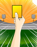 Yellow card soccer referee vector Stock Photography