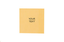 Yellow card. On a white background Royalty Free Stock Photography