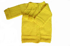 Yellow cardigan Stock Images