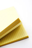 Yellow cards. Open yellow card notes on white background Royalty Free Stock Image