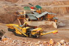 Yellow Career Excavator Royalty Free Stock Photos