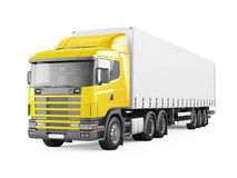Yellow cargo delivery truck. Royalty Free Stock Photography