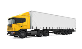 Yellow Cargo Delivery Truck Royalty Free Stock Photography