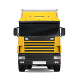 Yellow Cargo Delivery Truck Royalty Free Stock Photo