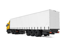 Yellow Cargo Delivery Truck Stock Image