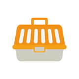 Yellow carrier pet plastic care. Illustration eps 10 Royalty Free Stock Photo