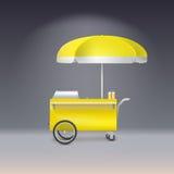 Yellow cart for sale lemonade Stock Photography