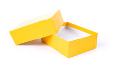 Yellow Carton Stock Photo