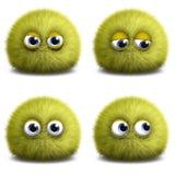 Yellow cartoon alien. 3d cartoon cute yellow alien Stock Photography
