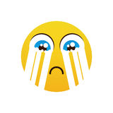 Yellow Cartoon Face Cry Tears People Emotion Icon Royalty Free Stock Image