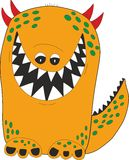 Yellow cartoon monster Royalty Free Stock Photo