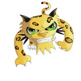 Leopard,vector,yellow, cartoon ran ,fangs.leopard vector cartoon children eyes funny funnyfangs green grin grinclawscat grinclawsc vector illustration
