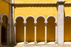 Yellow castle  wall Stock Photography