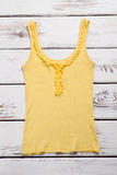 Yellow casual tank top. Royalty Free Stock Image