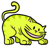 Yellow cat. Creative design of yellow cat Royalty Free Stock Photography
