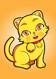 Yellow Cat. Lovely and gorgeous Royalty Free Stock Images