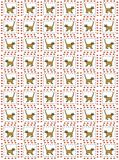Yellow cat pattern Royalty Free Stock Images