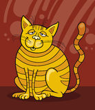 Yellow Cat smiling. Illustration of Yellow Cat smiling Royalty Free Stock Photos