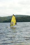 Yellow catamaran Stock Photo