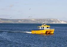 Yellow Catamaran Royalty Free Stock Photography