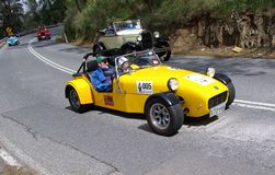 Yellow Caterham Sports Car Royalty Free Stock Photos