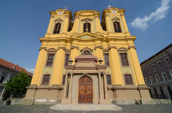 Yellow cathedral church Royalty Free Stock Photography