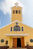 Yellow Catholic Chapel. A small Catholic chapel on Aruba Royalty Free Stock Photo