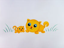 The Yellow Cats Royalty Free Stock Photos
