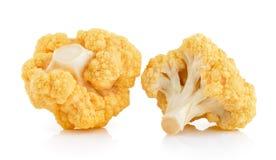 Yellow cauliflower on white background Stock Image