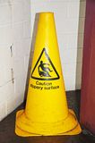Yellow caution cone. Stock Photography