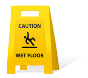 Yellow caution sign Stock Photography
