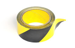 Yellow caution tape Royalty Free Stock Photo