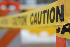 Yellow Caution Tape Royalty Free Stock Photography