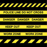 Yellow Caution Tapes Royalty Free Stock Images