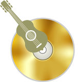 Yellow CD Royalty Free Stock Photography
