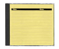 Yellow cd cover Stock Photography