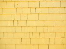 Yellow cedar siding Stock Photography