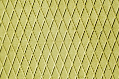 Yellow cement floor with rhombus pattern. Stock Photos