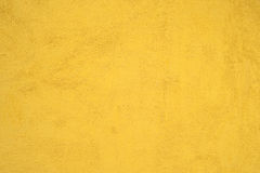 Yellow Cement Wall Stock Photography