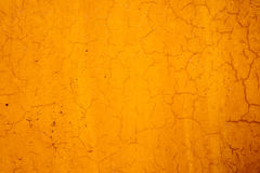 Yellow cement wall. Grunge yellow cement wall with crack in industrial building, great for your design and texture background Royalty Free Stock Photos