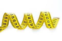 Yellow centimeter Stock Photos
