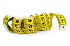 Yellow centimeter Stock Images