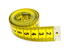 Yellow centimeter Stock Image