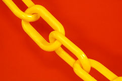 Yellow Chain Stock Photography