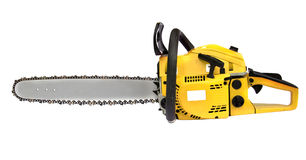 Yellow chainsaw Stock Photography