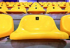 The yellow chair on the amphitheatre . stock photography